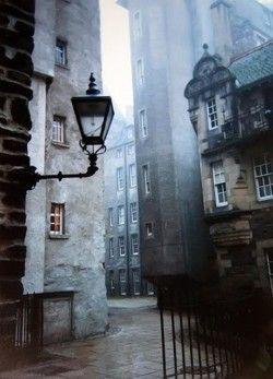 Foggy.  Street Photo