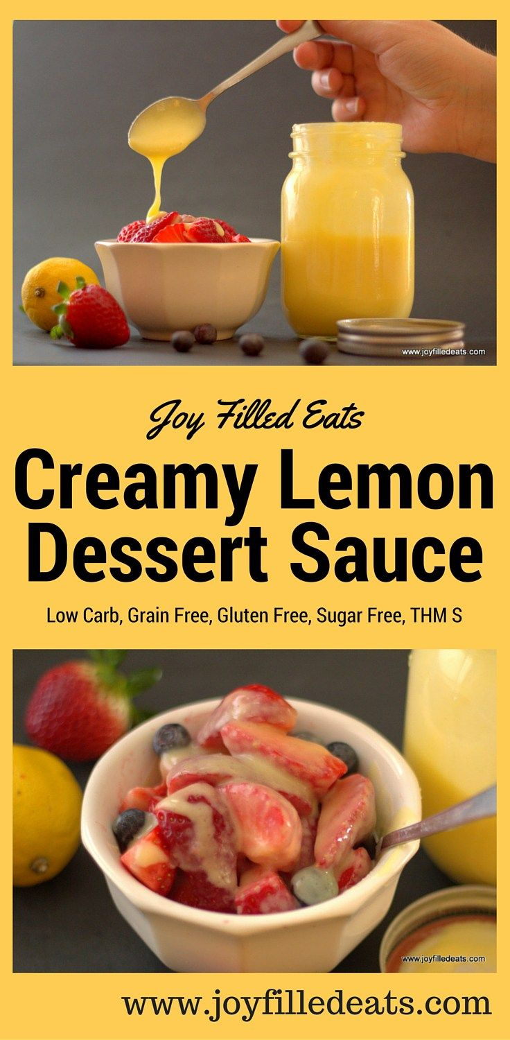 Creamy Lemon Dessert Sauce is great on berries.
