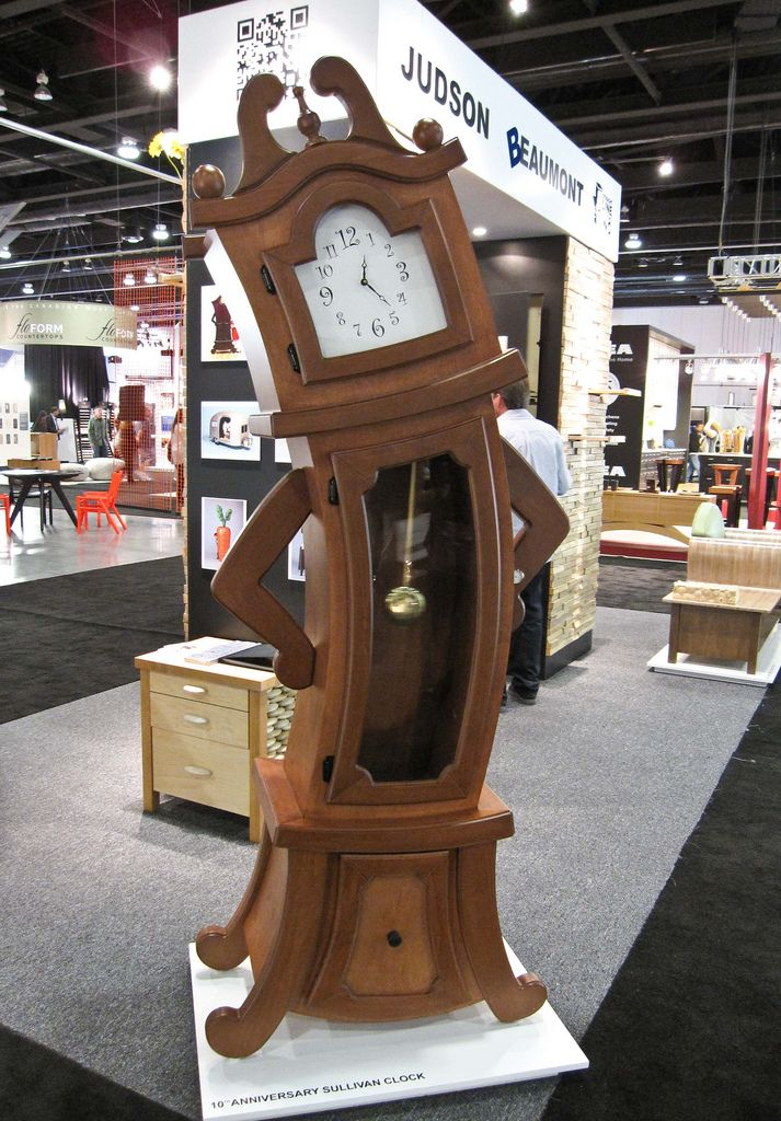©Ariane Colenbrander. Sullivan Grandfather Clock by Judson Beaumont of Straight Line Designs. Now that's a cool fun clock... #living room