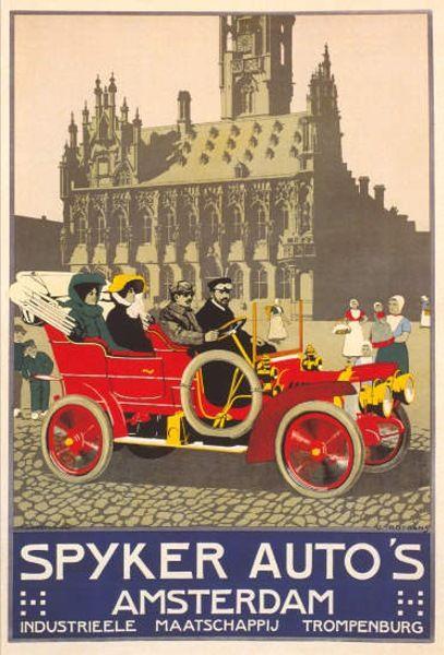 Spyker Autos, 1910  stadhuis Middelburg