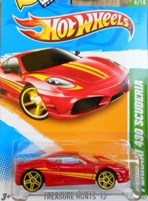 HOT WHEELS TREASURE HUNTS '12  FERRARI 430 SCUDERIA  FREE SHIPPING!!