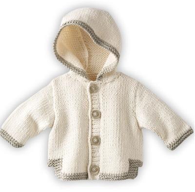 Kapşonlu Örgü Bebek Hırkası Örnekleri | Giysi modelleri ve