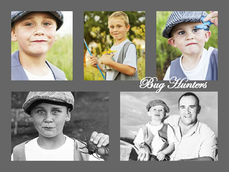 A vintage bug hunting themed family photo shoot. Centurion, South Africa