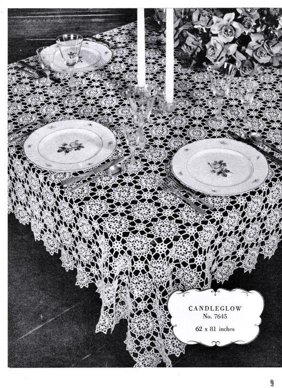 Free Vintage Filet Crochet Tablecloth Patterns Crochet Patterns