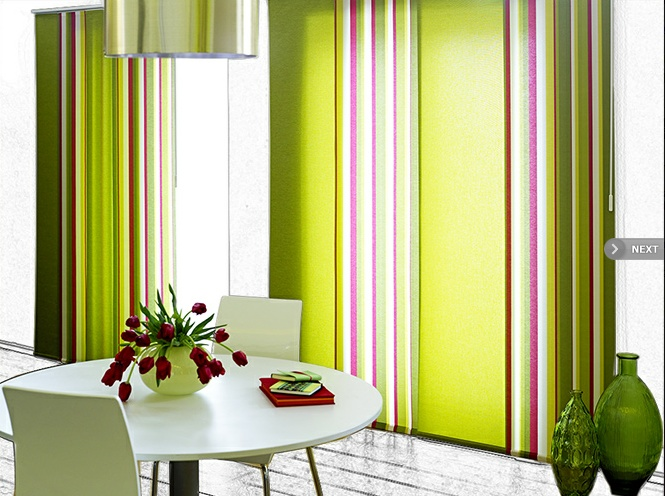 My next flat purchase - brighton rock panel blinds!