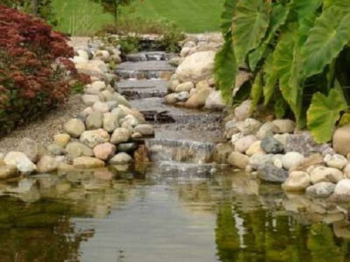 Waterfall Designs | Garden Pond Waterfall | Home And Landscaping Designs