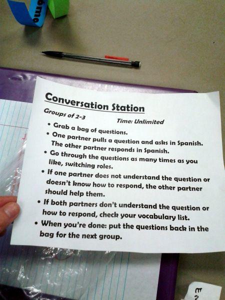 Conversation Station