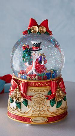 Thomas Kinkade White Christmas Snow Globe