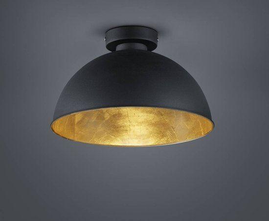 Bol.com 69,95 Lampentoppers plafondlamp Zwart Goud