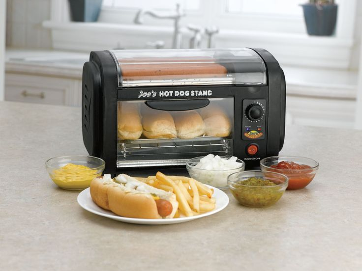 No need to step away from the big #Game for some stadium style hot dogs. He can make them in the comfort of his #ManCave with this hot dog roller grill.