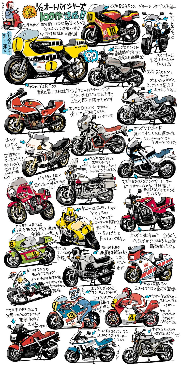 crazy cool motorcycle drawings part 2