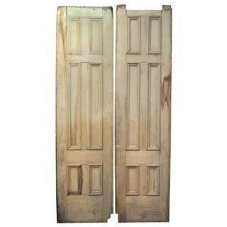 Tall Vintage Belgian Doors - A Pair #Chairish