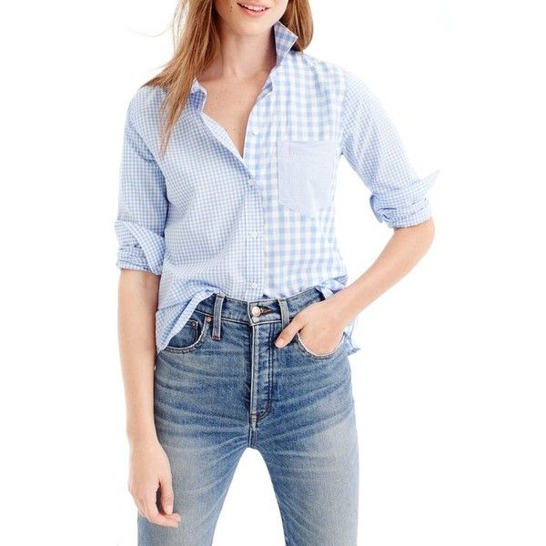 17 best ideas about Blue Gingham Shirts on Pinterest | Casual work ...