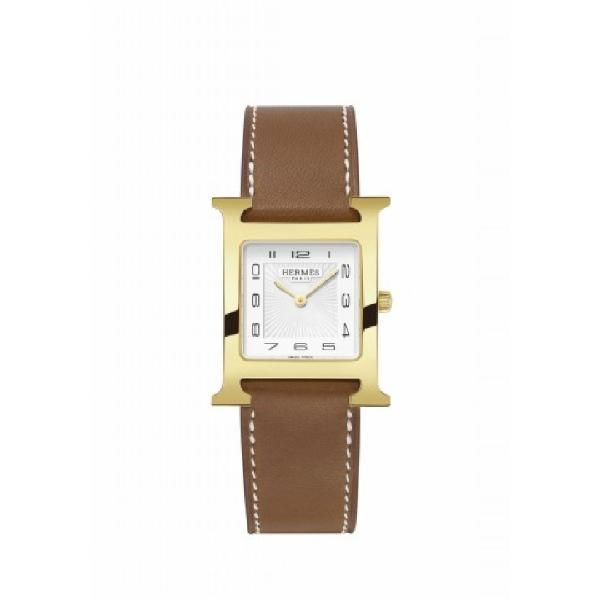 #Reloj #Hermes HORA H MM #watch #leather #gold #classic #elegant #joyeriabarcelona
