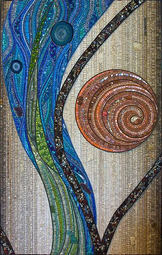 Looks more like beautiful embroidery on fabric - amazing mosaic!
