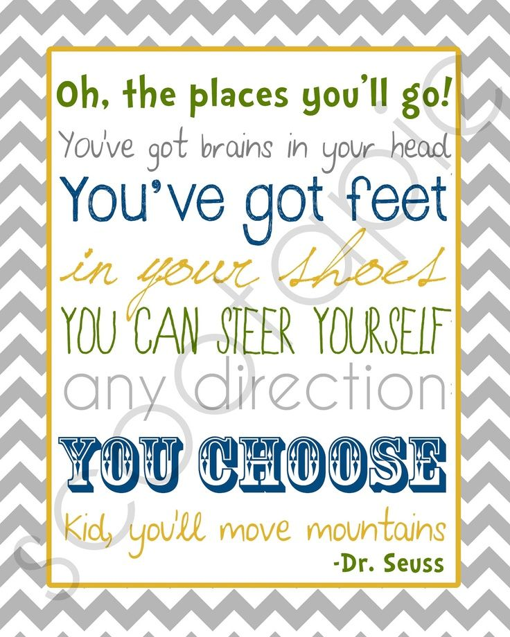 OH The Places You Ll Go Printables