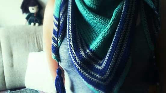 Marina kendő.  Minta: Varga Gabi  #horgolt #kendo