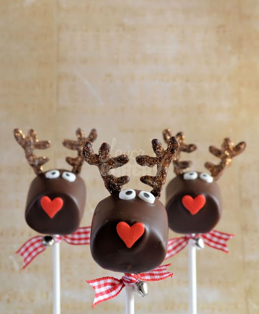 Advent 1: Rendier marshmallow pops - Laura's Bakery
