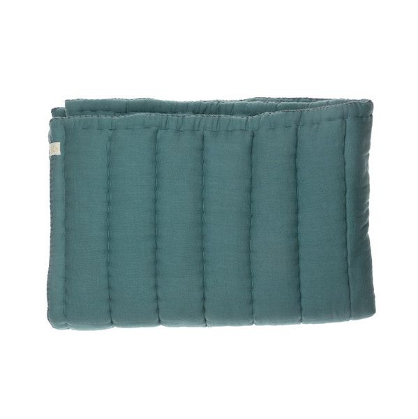 Cot bed Hand Quilted Blanket - Soft Teal