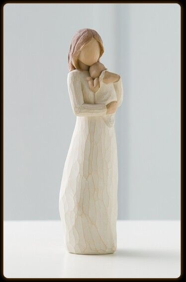 Willow tree figurine. I love this. It reminds me of my volunteer work as a Cuddler in the NICU
