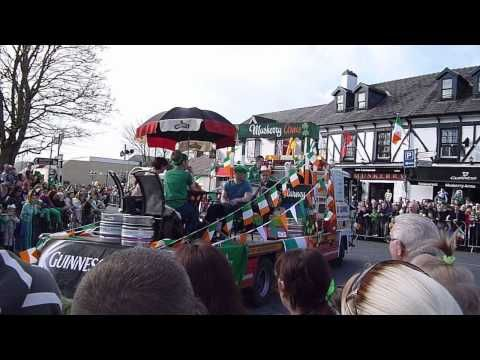 Our float in the St. Patrick's Day Parade, Blarney, 2015