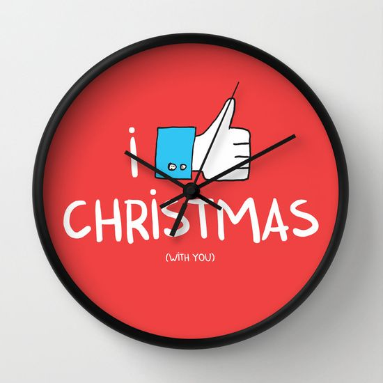 i like Christmas (with you) Wall Clock