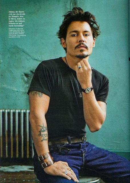 Johnny Depp. Oh, I could just eat him up.