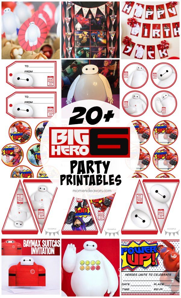 20+ FREE Disney Big Hero 6 Party Printables (invitations, party decor, and more)!