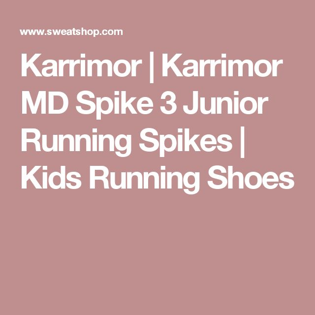 Karrimor | Karrimor MD Spike 3 Junior Running Spikes | Kids Running Shoes