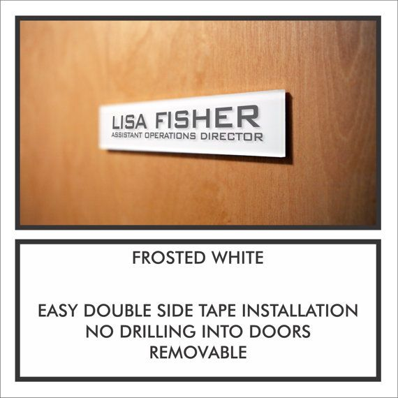 Personalized Office Door Name Plate Sign. Easy Installation No drilling Holes into Doors with Modern  sc 1 st  Pinterest & 25+ unique Door name plates ideas on Pinterest | Name plates for ... pezcame.com