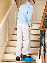 This is a unique idea.  Better than not being able to go up the stairs at all--or risking a fall.  GOOD FOR KNEE OR HIP PROBLEMS, POOR BALANCE OR NEUROLOGICAL DISORDERS.  EZ-Step Cane - Stair climbing assist - Quad cane | Gold Violin (TAG: MOBILITY AID; FOR SALE)
