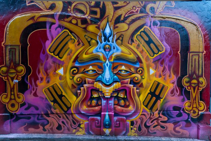 Aztec mayan graffiti aztec mayan graffiti pinterest for Aztec mural painting