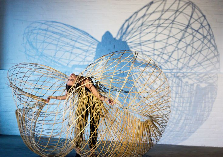 maria blaisse brings dancers' movements to life with bamboo structures - designboom | architecture