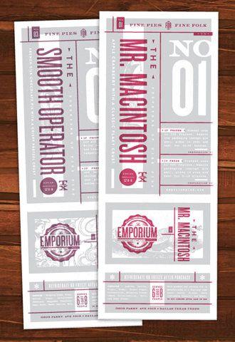 awesome: Graphic Design, Emporium Pies, Design Work, Graphicdesign, Branding, Cataloging Inspiration, Graphics, Work Life
