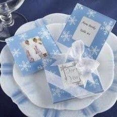 Blue Snow Photo Glass Coaster Favour