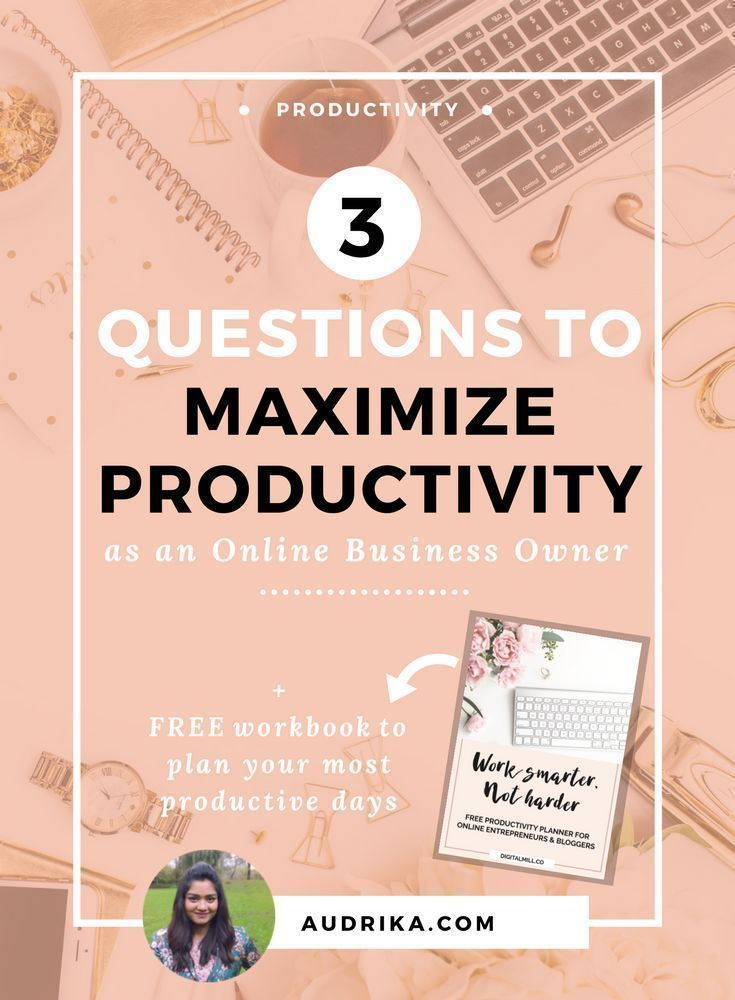 Use these three questions to help you overcome procrastination, set the right goals, and maximize productivity for more intentional and effective work days as an online business owner. Read now or save for later >> #productivity #goalsetting #entrepreneur #onlinebusiness #timemanagement Time Management | Productivity | Entrepreneur