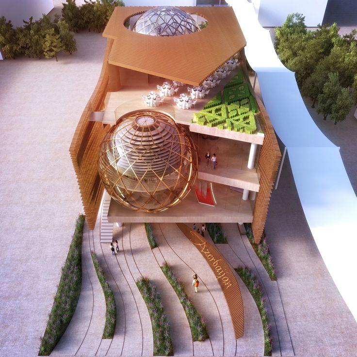 simmetrico network, arassociati architecture and landscape studio AGP design azerbaijan's pavilion for expo milan 2015