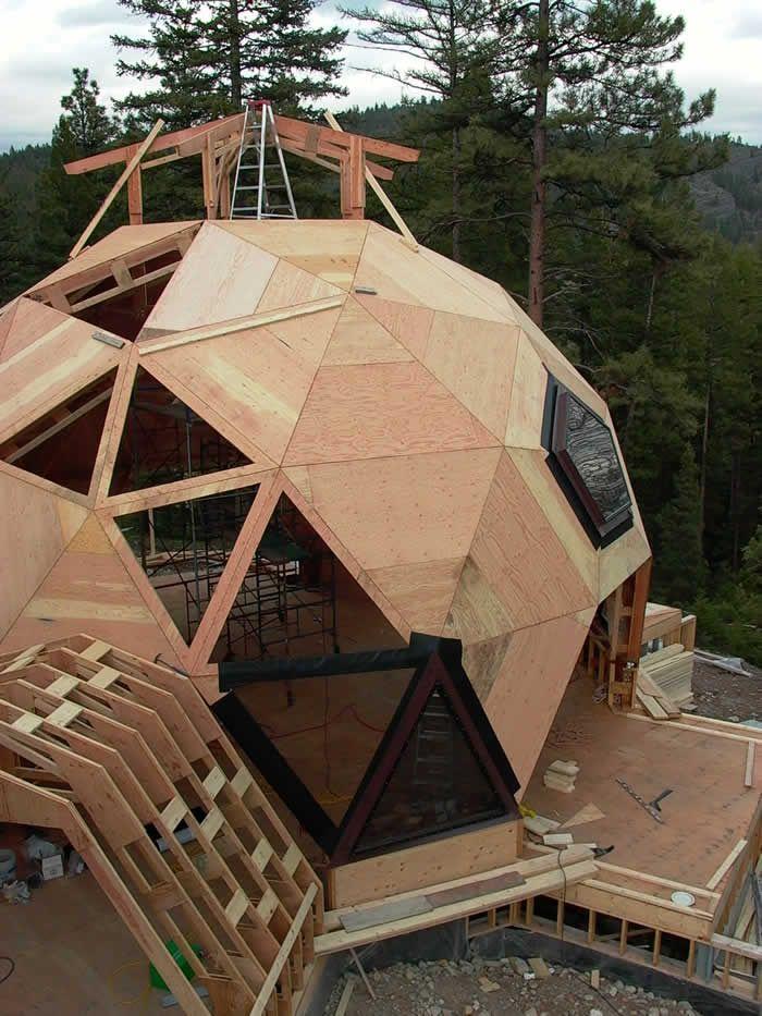 Imagen relacionada casas domo en 2019 casa en forma de - Casas geodesicas ...