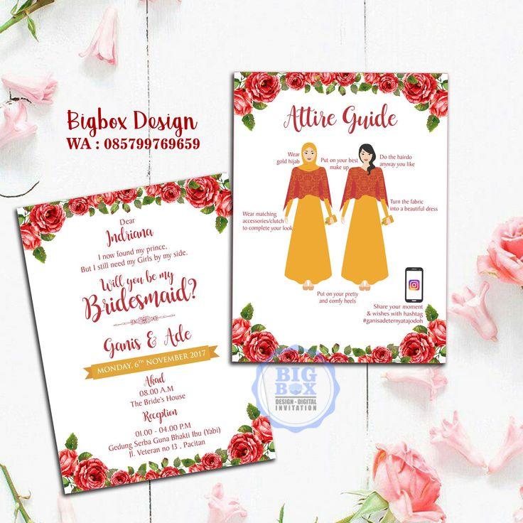 Bridesmaid card for Ganis & Ade wedding. Thank you. . . . Whatsapp/Line 085799769659 . . . #bridesmaid #groomsman #bridesmaidcard #groomsmancard #kartubridesmaid #kartugroomsman #attireguide #attireguidecard #undanganunik #undangan #undangansosmed #digitalinvitation #bigboxdesign #undanganelektronik