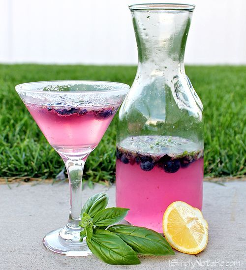 Fruit Martini Recipe Blueberry Basil