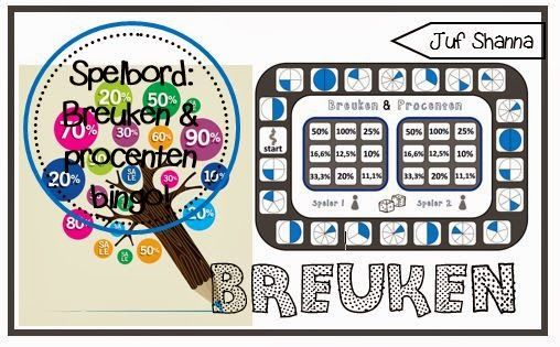 Nieuw bingo spelbord: breuken en procenten