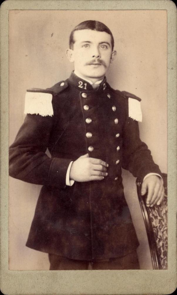 CDV militaire homme soldat 21 R.I.  E. Lauthe Algérie Rue vauban fort Barral