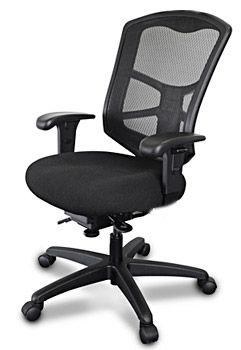 Mesh high back chair with ergonomics controls