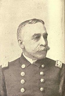 Admiral George Dewey during the Spanish-American War of 1898.