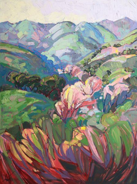"""White Oaks"" modern California impressionism painting of Paso Robles, oil painting by Erin Hanson."