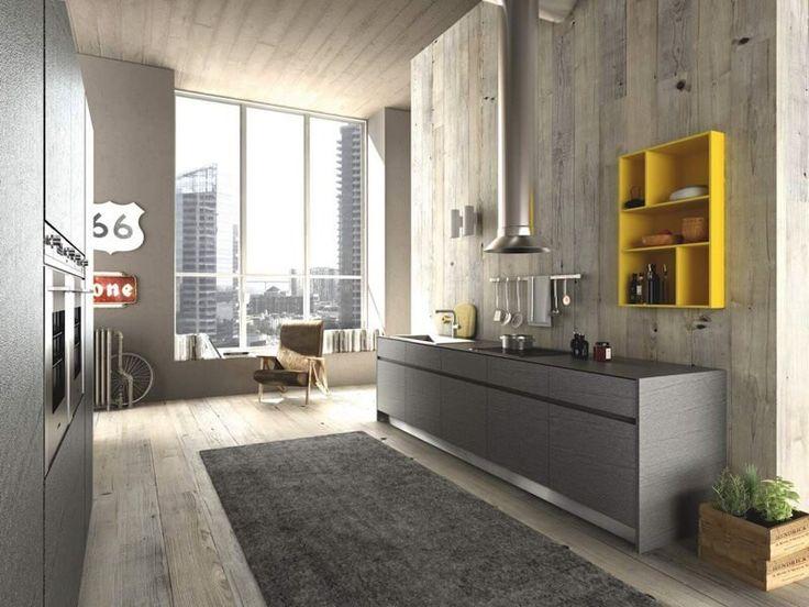 Küche Als Ein Offener Raum In Diesem Haus, Mit Waschbecken Und Range Auf  Counter Raum