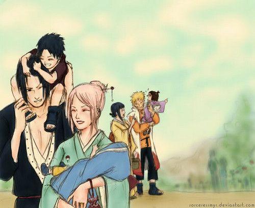 Sasuke & Sakura Family | Sasuke x Sakura | Pinterest ...