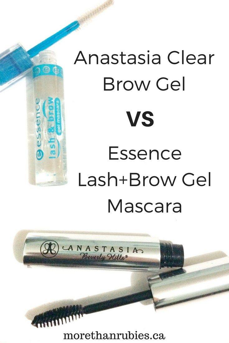 Anastasia Clear Brow Gel vs Essence Lash Brow Gel Mascara | www.morethanrubies.ca #anastasiabeverlyhills #browgel #beautyreview #thebloggershub #bbloggers