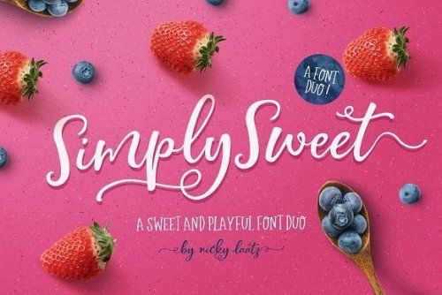 designeour:    NEW! The Simply Sweet Font Duo by Nicky Laatz...