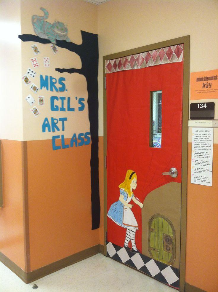 My new class door Alice in wonderland